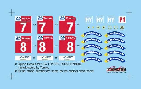 SK24089 Toyota TS050 Le Mans Option Decal